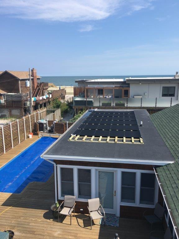 Solar Pool Installation - Located in Ocean Beach Fire Island