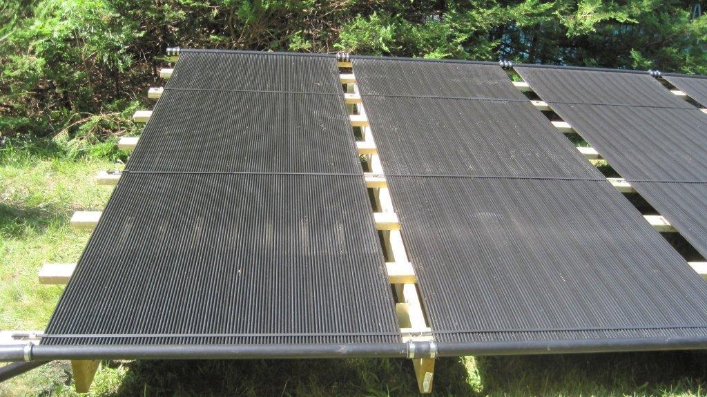 Ground Mounted Pool Solar Installation