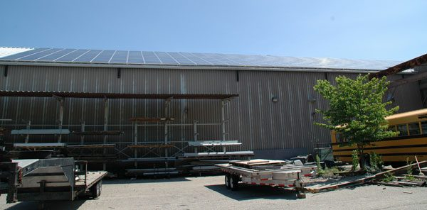 Mounted on a standing seam roof, No penetrations. 100kw - Derby,CT