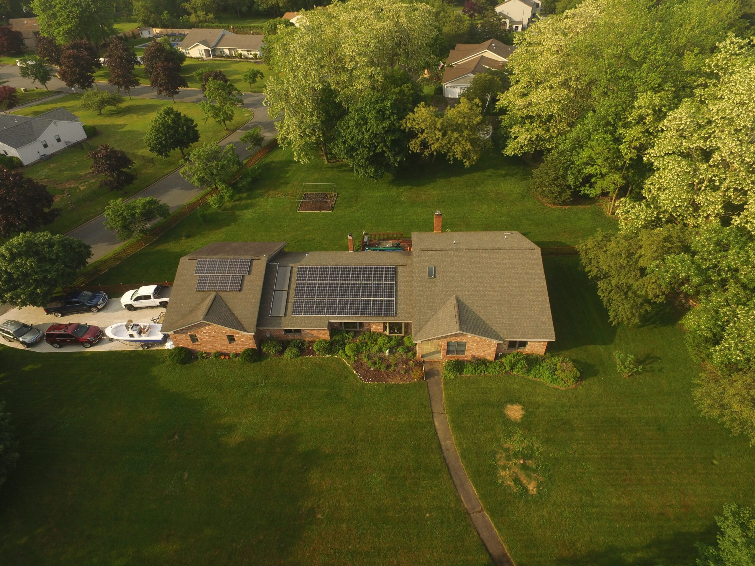 Solar Hot Water & Electric Installation - St. James, NY