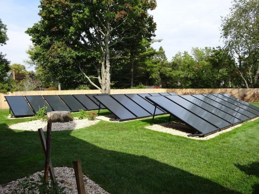 Ground Mounted Solar Hot Water - East Islip, NY