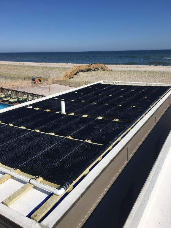 Solar Pool Installation - Located in Ocean Beach Fire Island