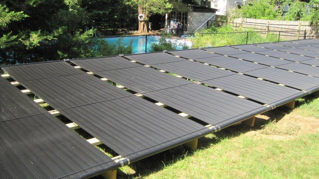 Ground Mounted Solar Pool Installation